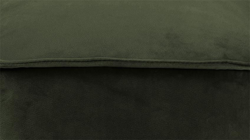 Sitzhocker Mie Pouf Sitzkissen mit Samt dunkelgrün 40x40 cm