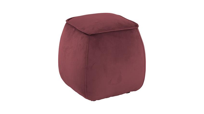 Sitzhocker Mie Pouf Sitzkissen mit Samt in koralle 40x40 cm