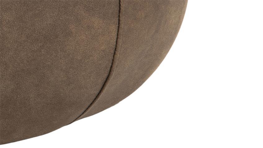 Sitzhocker Pouf Mie Sitzkissen mit Samt hellbraun 60 cm rund