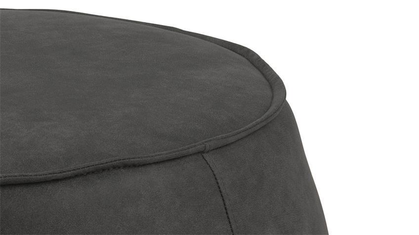 Sitzhocker Pouf Mie Sitzkissen mit Samt anthrazit 60 cm rund