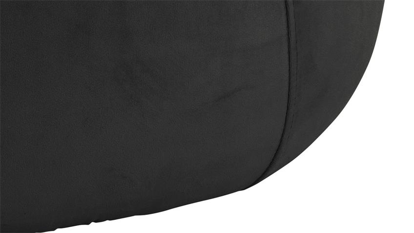 Sitzhocker Pouf Mie Sitzkissen mit Samt rund grau-braun 60 cm