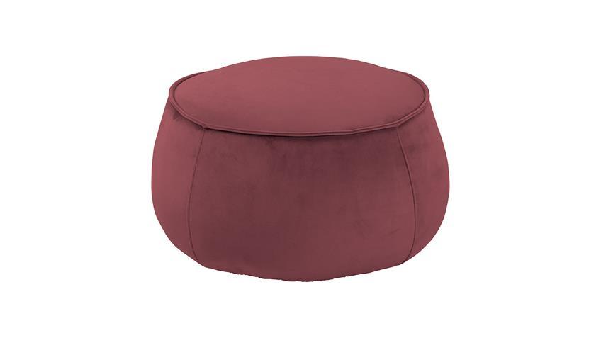 Sitzhocker Pouf Mie Sitzkissen mit Samt koralle 60 cm rund