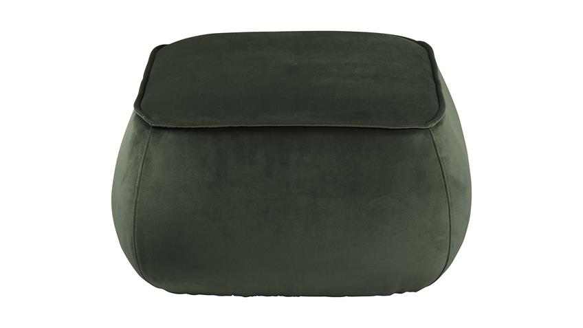 Sitzhocker Pouf Mie Sitzkissen mit Samt dunkelgrün 60x34 cm