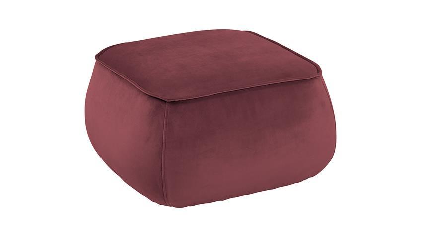 Sitzhocker Pouf Mie Sitzkissen mit Samt koralle 60x34 cm