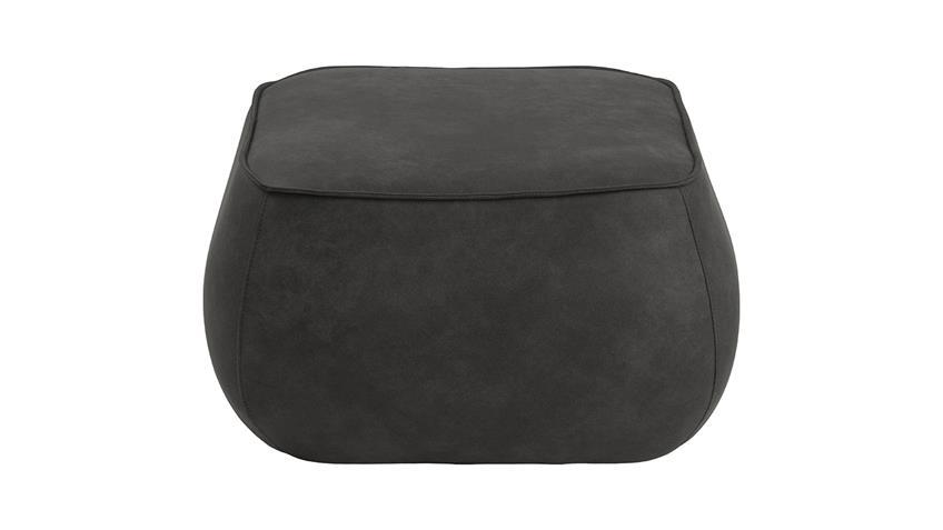Sitzhocker Mie Sitzkissen Pouf mit Samt in anthrazit 60x34 cm