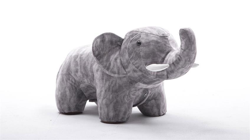 Tierhocker Elefant Sitzhocker grau Kinderzimmer Metallgestell