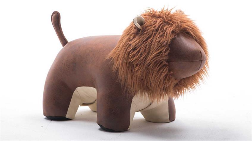 Tierhocker Löwe Kinderhocker Hocker Lion braun beige