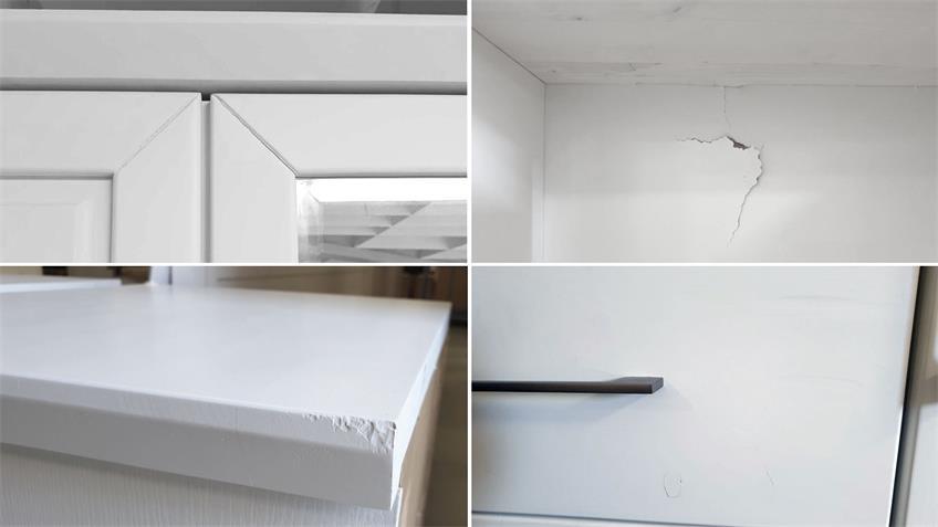 Bett 180x200 cm Landhaus Emma Kiefer teilmassiv weiß