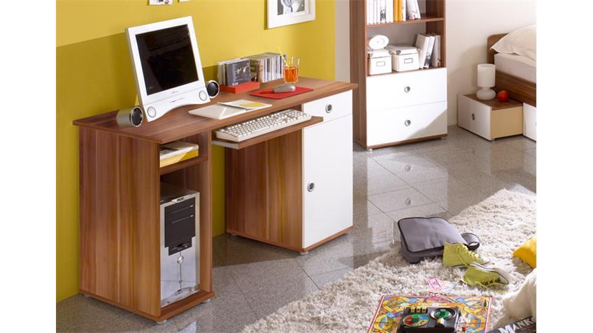 Schreibtisch WIKI II Jugendzimmer Computertisch in Walnuss