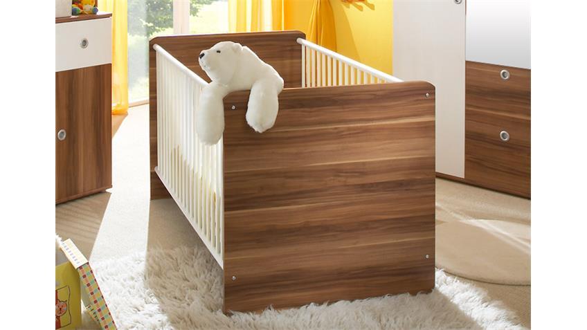 Babyzimmer WIKI 4-teilig Walnuss und weiß