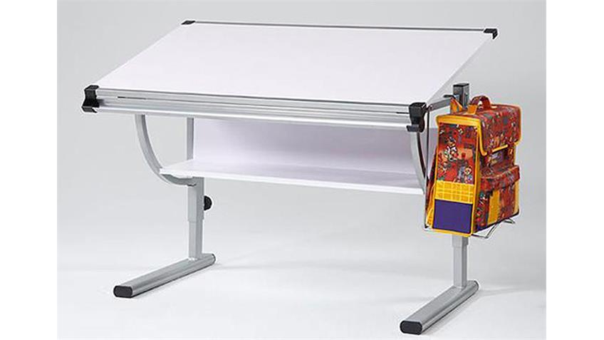 Schreibtisch SAPO Buche Metallgestell höhenverstellbar