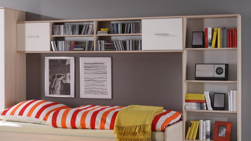 Jugendzimmer Set NANU Esche und weiß 4-teilig