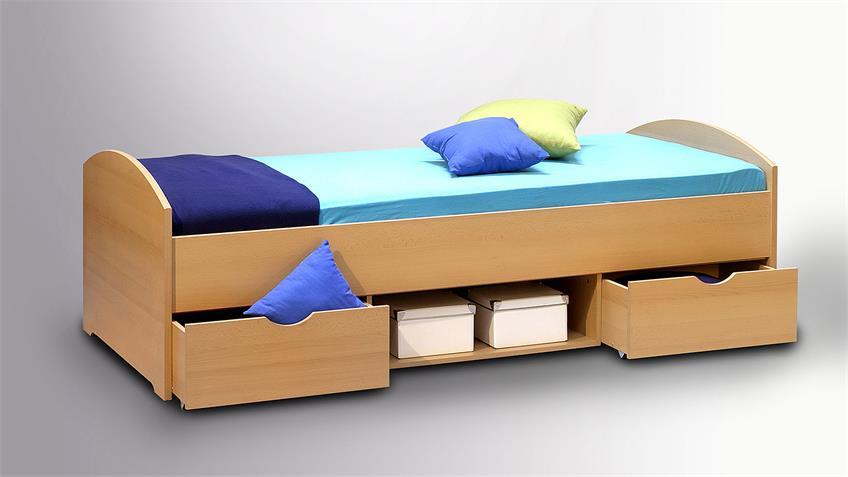 Bett NEMO Kinderbett Liege Kinderzimmerbett Buche 90x200