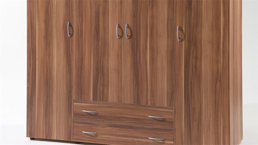 Kleiderschrank BASE 4 Schlafzimmerschrank Walnuss 160