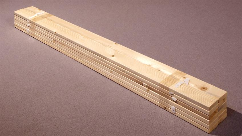 Rollrost Lattenrost 120 x 200 cm in Fichte massiv mit 13 Latten