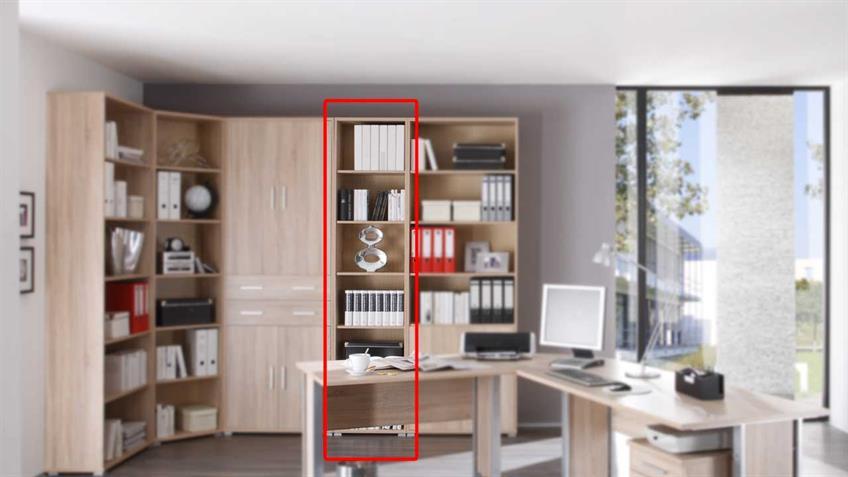 Bücherregal Office Line in Sonoma Eiche Dekor 52 cm breit