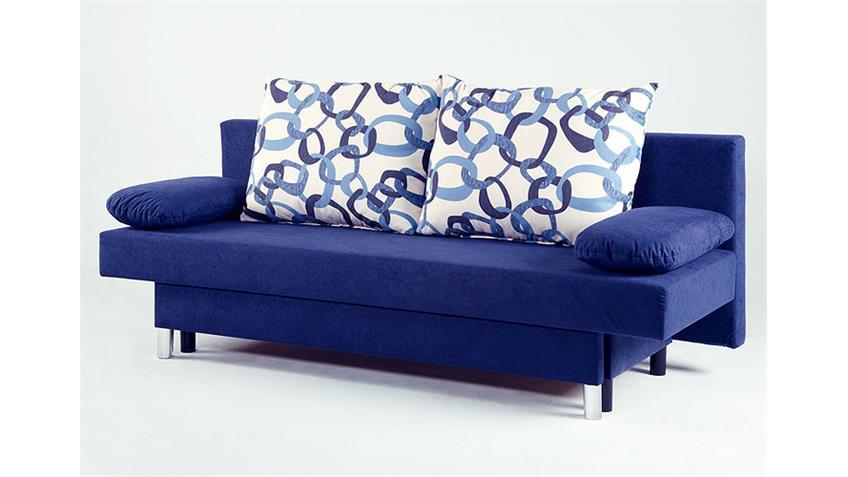 Schlafsofa JELLY Sofa in schwarz und grau mit Bettkasten