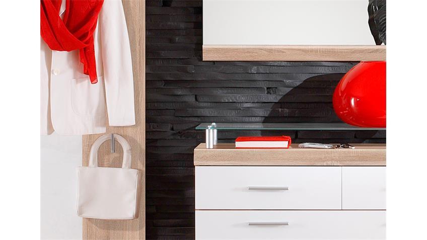 Garderobenset IMPERIAL 1 Eiche Sonoma sägerau weiß 3-tlg.