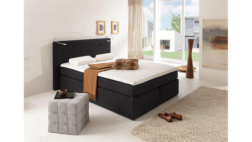 boxspringbett atlanta schwarz 140x200 cm. Black Bedroom Furniture Sets. Home Design Ideas