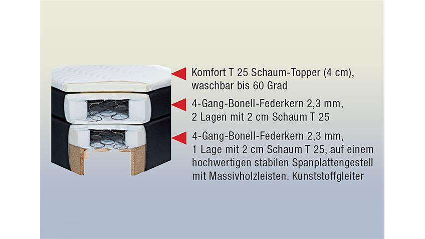 Boxspringbett ATLANTA Doppelbett in braun 140x200 cm
