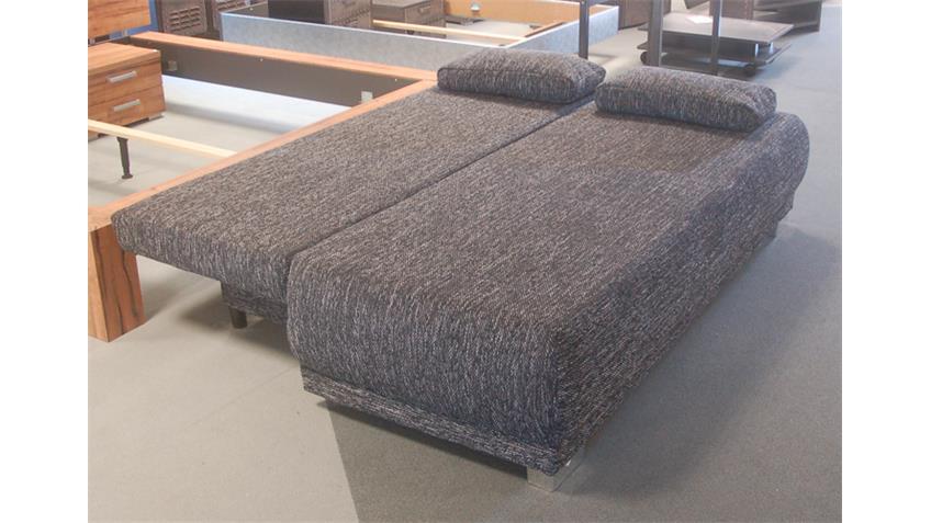Schlafsofa WORK in Webstoff schwarz mit Bettkasten