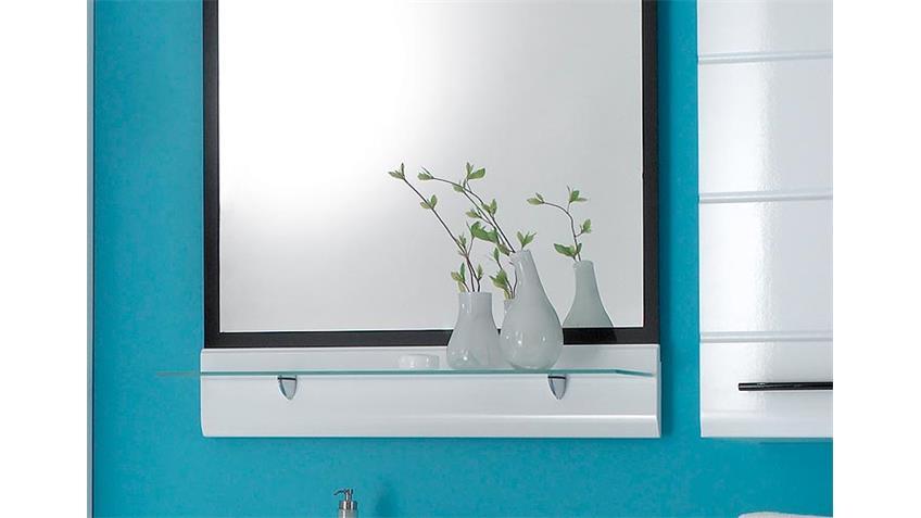 Spiegel FITNESS Wandspiegel Badezimmerspiegel in weiß Glanz