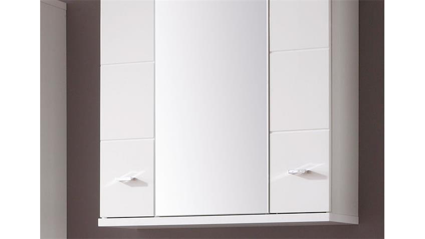 Spiegelschrank Badezimmer MORNING in weiß Front Hochglanz