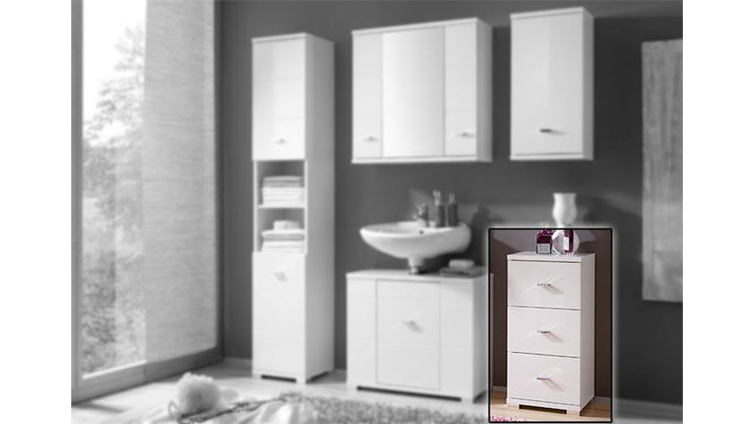 kommode morning wei er badezimmerschrank in hochglanz. Black Bedroom Furniture Sets. Home Design Ideas