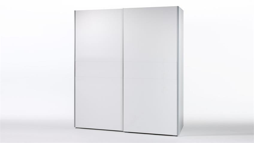 Schwebetürenschrank Kleiderschrank Victor 2 Schrank in weiß 170
