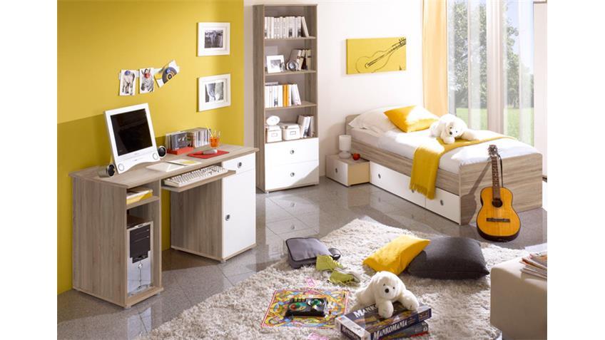 Schreibtisch Jugendzimmer Wiki in Eiche Sonoma und Weiß