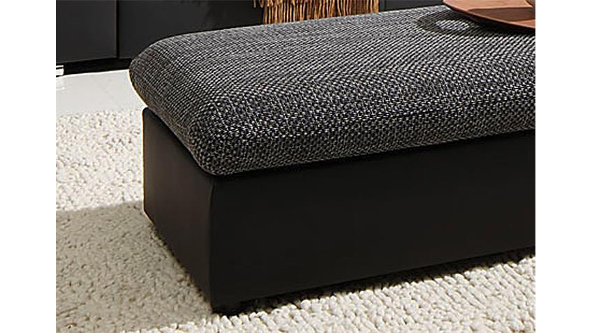 hocker move sitzhocker polsterhocker in schwarz und grau. Black Bedroom Furniture Sets. Home Design Ideas