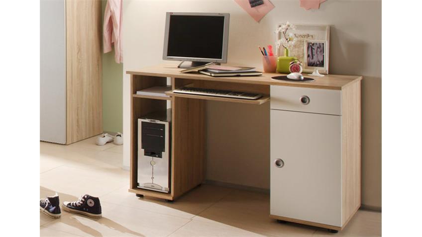 Jugendzimmer WIKI 7-tlg Sonoma Eiche Sägerau und Weiß