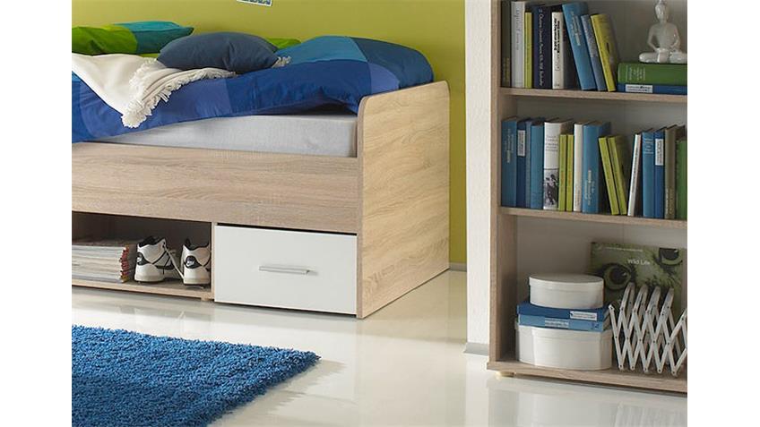 Jugendzimmer Set NANU 4-teilig Sonoma Eiche sägerau und weiß