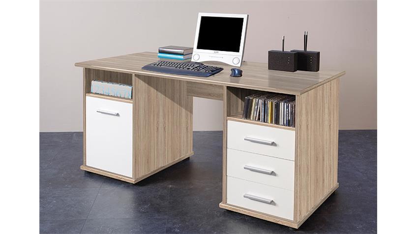 Schreibtisch VENTA Computertisch PC Tisch in Eiche Sonoma