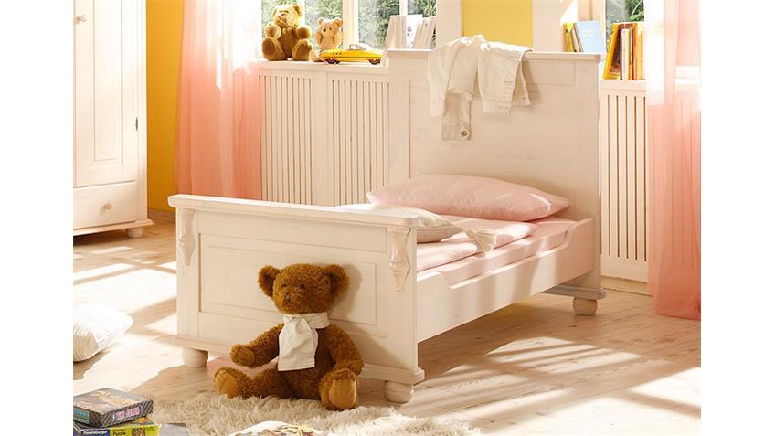 umbauset juniorbett lara ii kiefer massiv wei wachs 70x140 cm. Black Bedroom Furniture Sets. Home Design Ideas