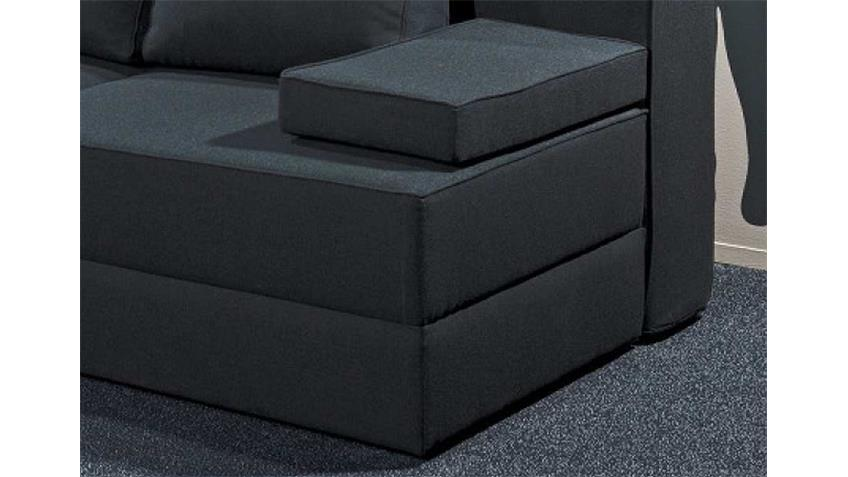 Schlafsofa BOX Anthrazit mit Schlaffunktion 160x204 cm