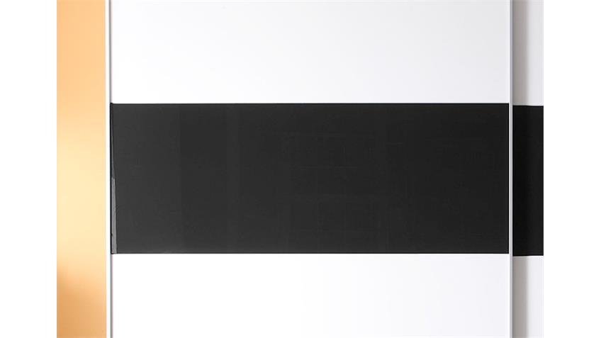 Schwebetürenschrank DREAM Weiß Schwarz Glas, B: 270 cm