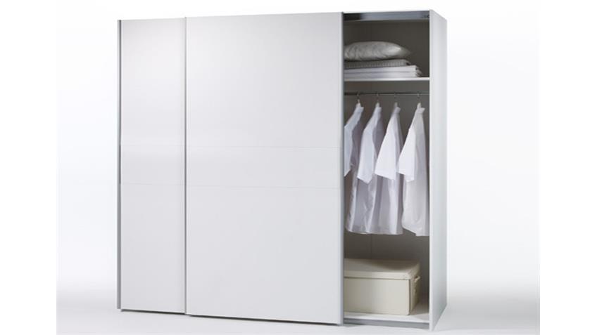 Schwebetürenschrank Viktor weißer Kleiderschrank 270x210
