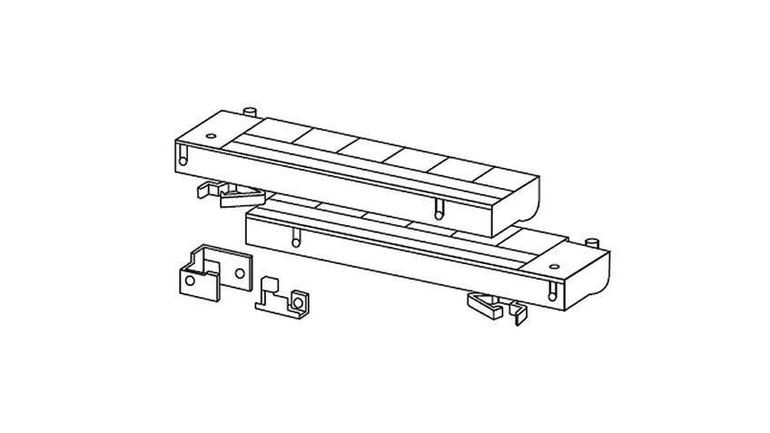 Türdämpfer für Kleiderschränke bis 215 cm
