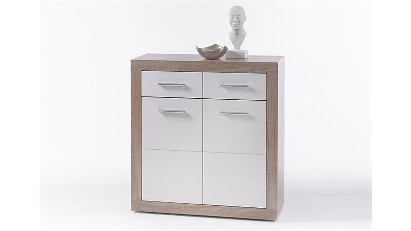 Kommode CANCAN 1 Sideboard Highboard in weiß Sonoma Eiche