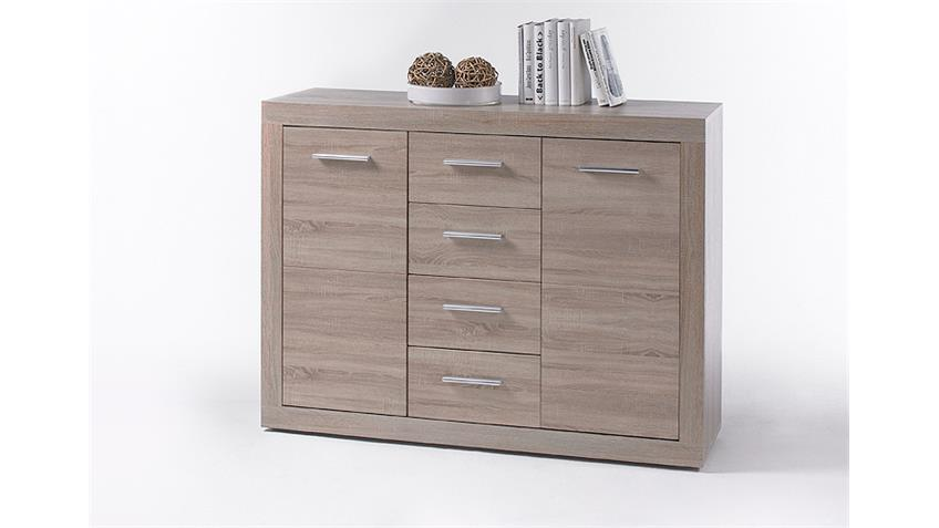 Kommode CANCAN 4 Sideboard Highboard in Sonoma Eiche