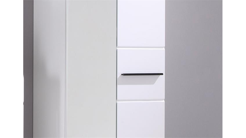 Garderobenschrank DERBY 2-trg. Weiß Front Hochglanz
