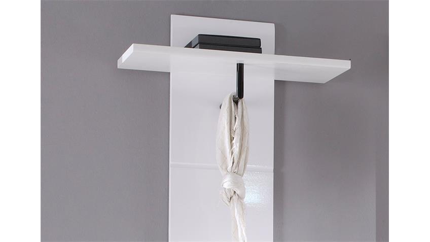 Garderobenpaneel DERBY Garderobe Paneel in weiß Dekor