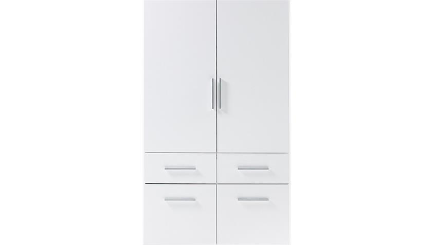 Kleiderschrank BOX 2 in weiß 90 cm breit