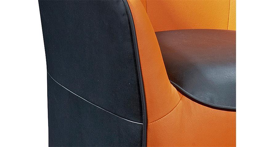 Cocktailsessel THEO Sessel Einzelsessel schwarz und orange
