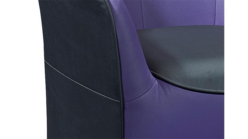 Cocktailsessel THEO Sessel Einzelsessel in schwarz und lila