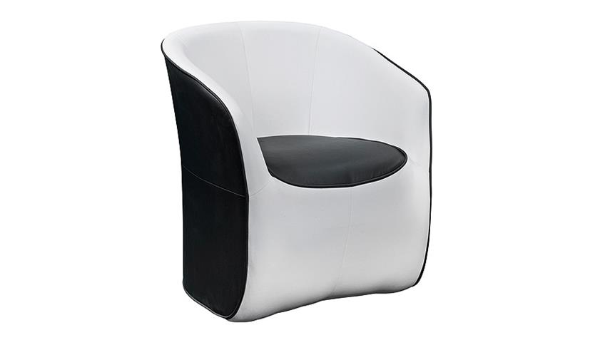 Cocktailsessel THEO Sessel Einzelsessel in schwarz und weiß