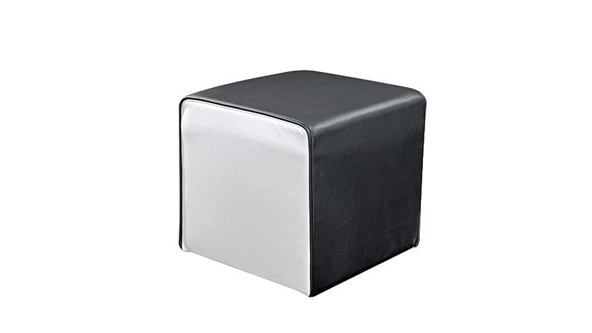 Hocker THEO Sitzhocker Polsterhocker Würfel schwarz weiß