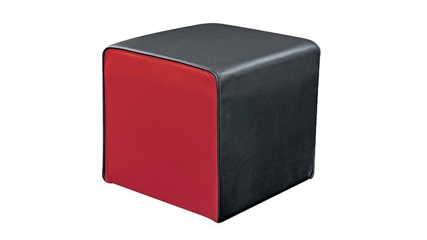 Cocktailsessel THEO Sessel Einzelsessel in schwarz und rot