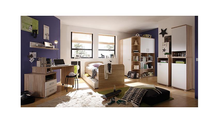 Schreibtisch CORNER Schwenkfunktion Sonoma Eiche Weiß